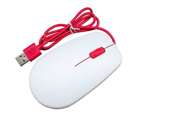 raspberry-pi RASPBERRY PI Official Raspberry Pi Mouse, Red-White