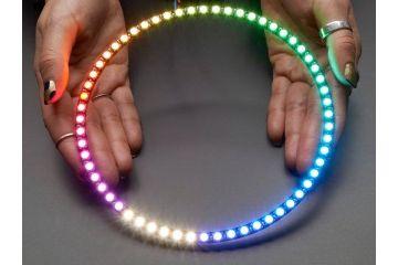 LEDs ADAFRUIT NeoPixel 1 - 4 60 Ring - 5050 RGBW LED w - Integrated Drivers - Natural White -  4500 K, adafruit 2874