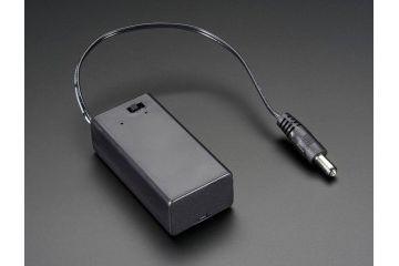 battery holders ADAFRUIT 9V battery holder with switch & 5.5mm- 2.1mm plug, adafruit 67