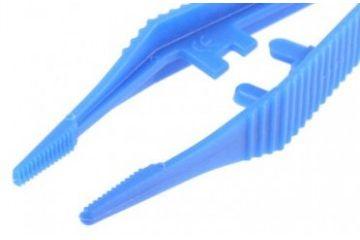tweezers KNIPEX 130 mm Anti-Magnetic Plastic Serrated; Trapezoidal Tweezers, Knipex, 92 69 84