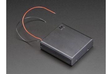 battery holders ADAFRUIT 4 x AA Battery Holder with On-Off Switch, Adafruit, 830