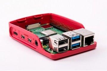 ohišja RASPBERRY PI Official Raspberry Pi 4 Model B, Development Board Case, Red-White