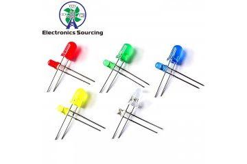 LEDs JH ELEC. 100 pcs-lot LED light-emitting diode 3MM 5MM Mixed color: red, green, yellow, blue, white, JH ELEC. YXB257