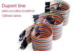 wires, headers ADEEPT 20cm Dupont Wires 120pcs, Male to Male + Male to Female + Female to Female Jumper Wires, Adeept ADP032